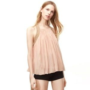 NWT Aritzia Wilfred Le Fou Valcourt Pleated Blouse